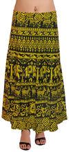las mujeres elegantes faldas largas envuelva indio