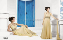 Bollywoood fashion New Sleeveless gown-Blue Ladies Long Evening Party Wear Gown-Evening wear gown long- net Gown wholesale