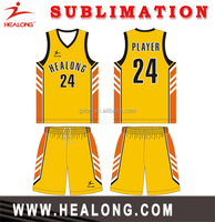 Polyester Sublimation basketball shooting shirts printed basketball uniform
