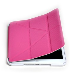 Suitable For IPad Mini 2/3 Smart Magnetic Case Cover Auto Sleep Wake Up Function Foldable Stand Mount Impact Resistant Pink