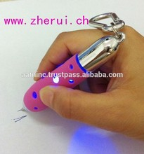 LED light mini pen with keychain
