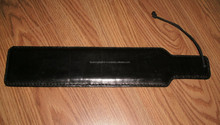 BLACK LEATHER OTB PADDLE SLAPPER TAWSE WITH SOLID LAMINATE CORE