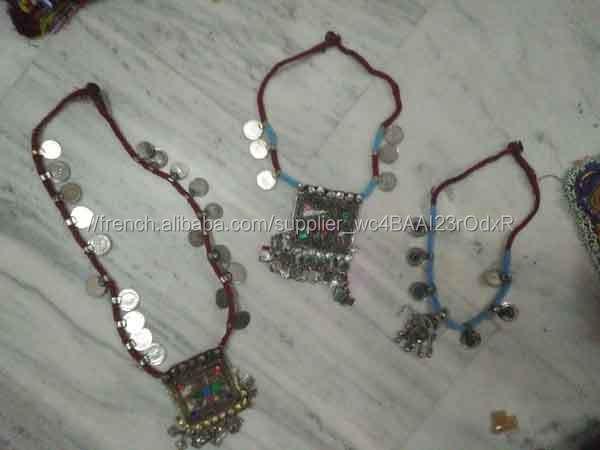 Banjara Kuchi Ethnique Tribal De Danse Du Ventre Collier Banjara coin collier