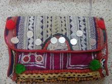 Indian bordado tribal bolso de embrague