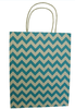 Stripe and wave point color paper bag for gift