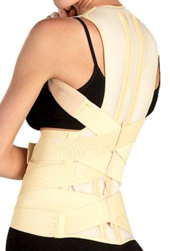 Deluxe correcteur posture ceinture de soutien lombaire retour brace ronde. épaule, scoliose