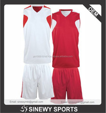 100% Polyester Cut and Sew Basketball Uniform new design