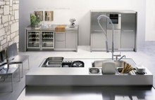 Ultra-Luxury-Modern007-Stainless-steel fashionable kitchen furniture design