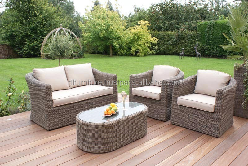 best selling 2015 wicker furniture 4pc garden rattan sofa