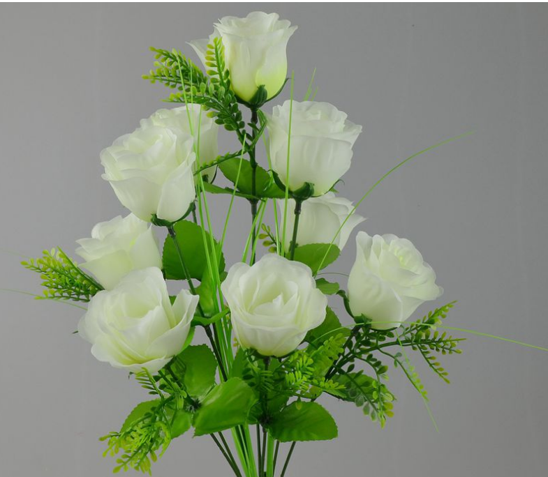 Plastic Flower Bouquet Wedding Silk Rose Flower Bouquet - Buy Blue ...