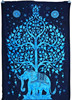 blue Indian Elephant UnderTree Mandala Indian Hanging Art Tapestries Hippie Hippy Tapestry Manufacturer In India Jaipur
