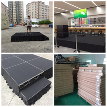best sale new design portable folding stage with stairs roof truss with portable stage
