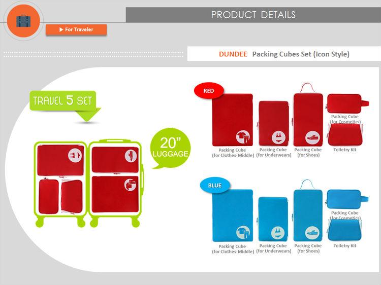 Tassen Groothandel Duitsland : Verpakking blokjes set reistassen product id