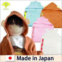 Popular designer Shinzi Katoh's fashionable hooded baby towel made in Japan