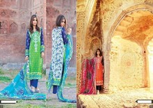 Latest Lawn Dresses for Summer,3 piece suits,chiffon dupatta and chiffon sleeves