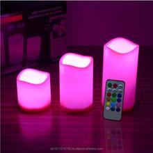 Hot sale multi-color remote control LED wax candel