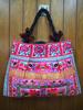 Thailand handmade festival hmong JUMBO Pom Pom fabric Tote Bag hmong hill tribe bags wholesale