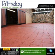 Paver Rubber Flooring Tiles for Gym / Playground / Outdoor Use