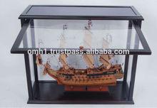 Caso de exhibición para el modelo buque l60cm abrir la puerta. Nuevo diseño!!