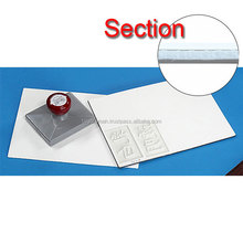 Original and Reliable japan stationery Polyethylene pre-inking rubber sheet with Nonwoven fabric for laser , OEM available
