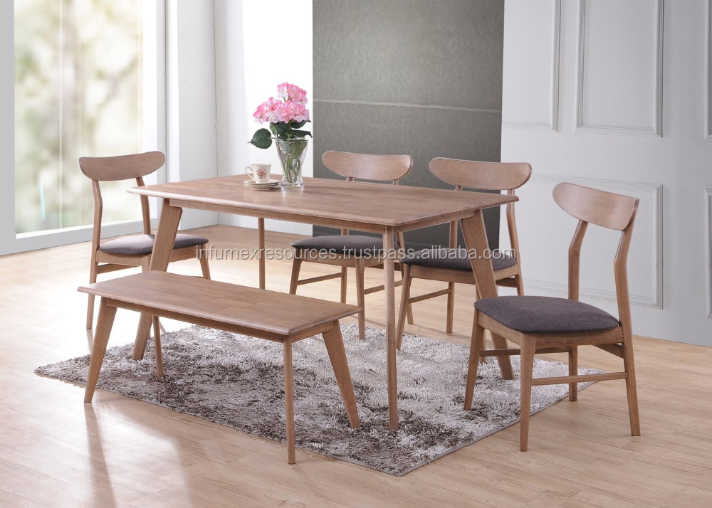 solid rubberwood dining set dining chair dining table rubberwood