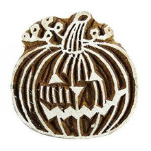 Handcarved Decorative Printing Block Pumpkin Textile Stamps For Clay Block Print PB2108A