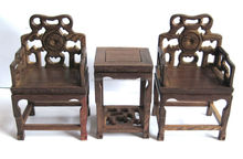 Armchairs as Jade base, Wooden carving, Rosewood carving