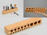 wooden holder for cosmetics handmade