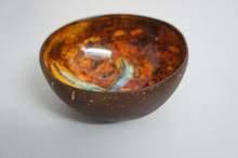 High quality real coconut bowl with artistic inspired natural glossy color vietnam coconut shell bowl cheap price