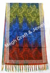 Paisley Sprinted Silk Stole/Shawl/Pashmina Shawls-Wholesale Fashion wear Stoles-Designer Long 3 die Multi Colored Printed Shawl