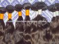 Alibaba natural del pelo humano indio, sin procesar puro virgen del pelo humano- 10,12,14,16,18 y 20 pulgadas onda profunda