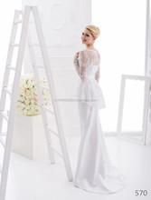 long sleeves short removable halter sheath brodery wedding dress