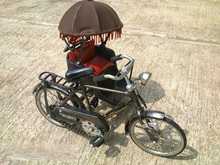 Miniature Bicycle Metal Material Iron Copper Brass Craft Malaka Becak or Tricycle model Handmade Indonesia