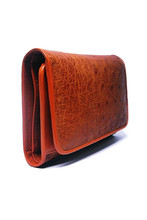Light brown ostrich Leather wallet (limited)