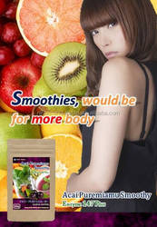 This smoothie has compounded the 147 types of enzymes, including the fruit.