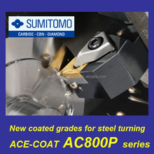 Sumitomo AC800P series TNMG160408,04,02 etc type insert with Super FF-coat covers wide range of cutting