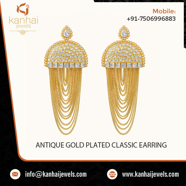ANTIQUE GOLD PLATED CLASSIC EARRING  2.jpg