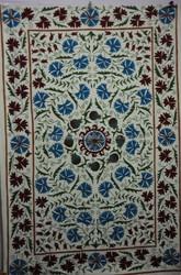 KTBS-116 Indian Twin Suzani Tapestry oranget Wall Hanging Beach Sheet Etchnic Decor Art Good Luck