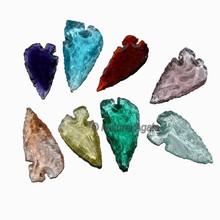 Heart Shape Glass Native Arrowheads - obsidian arrowheads for sale