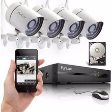 For The New Funlux 4CH NVR Kit 720p HD Night Vision IP CCTV Security Camera
