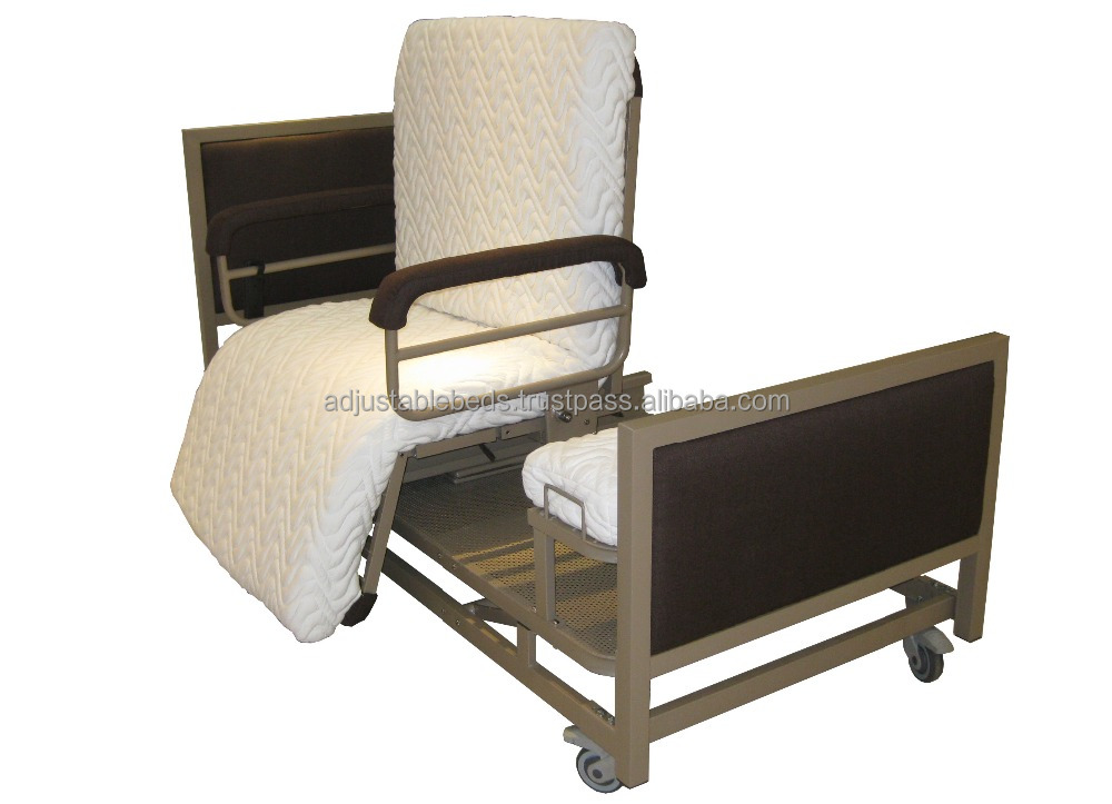 Adjustable Beds Mattress Type : Hospital chair type electric adjustable bed for home use