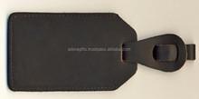 Black Leather Travel Luggage Tag / Wholesale Leather Luggage Tag / Genuine Leather Travel Leather Tag