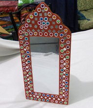 rectangular porthole indian hand crafted traditional embroidered wall hanging mirror/ decorated table mirror/ dressing mirror