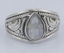 925 STERLING SOLID SILVER GEMSTONE JEWELRY UNIQUE LATEST DESIGN BEAUTIFUL RAINBOW MOONSTONE RING