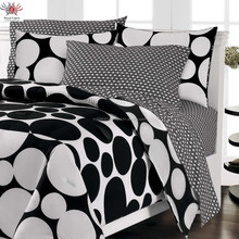 black and white wedding cotton bedsheets/bedsheet products fashion lace bedsheets jaipuri design bed sheet