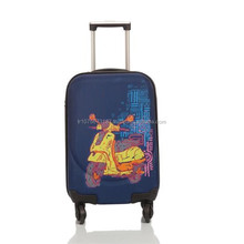 Artist Design Canvas Luggage Motorcycle