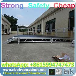 BEST factory adjustable stage platform,flow stage car