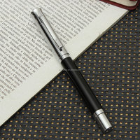 Best Price Excellent Quality New Fountain Pen Leather Inlaid Medium Nib Silver Clip Trim For Study Writing Gifts Office Supplies