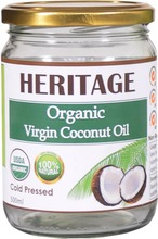 Extra Virgin Coconut Oil / Cold Pressed / Organic - 500 ml Wide Mouth Glass Jar