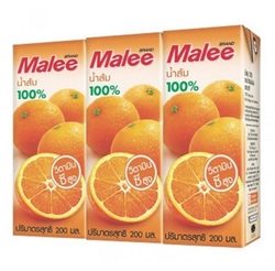 100% Natural Pure Fruit Juice Drink 200 ml Beverage From Thailand